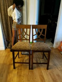 brown wooden framed brown padded chair Woodbridge, 22192