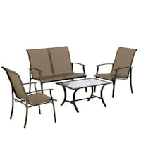New Glass tabletop with chairs set. Caddo Mills, 75135