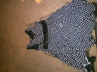 black and white polka dot sleeveless dress 567 mi