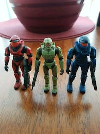 """3"""" Halo Master Chief and Red & Blue Action Figures Toronto, M1H 3K2"""