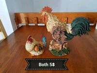 two brown and green rooster ceramic figurines Gatineau, J8T 6B9