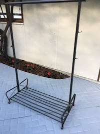 black and brown metal clothes rack North Vancouver, V7N 1R1