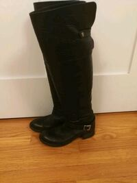 Black leather boots size 38