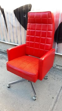 red and black leather padded armchair Montréal, H4E 2W9