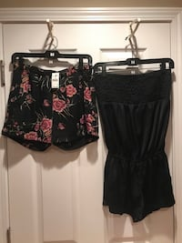 Junior/women's size small romper & dress shorts $10 total