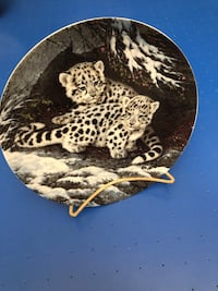 Collectible Plate and Stand-Morning Mischief, First issue in the paw prints: baby cats of the wild-1834A Myrtle Beach, 29577