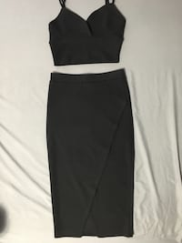 Black wrap dress in small