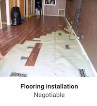 Flooring installation.