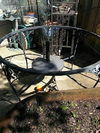 round black steel patio table set Odenton