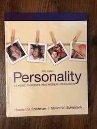 Personality: Classic Theories and Modern Research (5e) Toronto