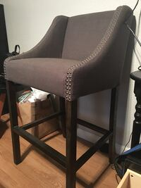 Gray barstool chair  Linden