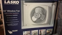 white and black Lasko pedestal fan box Landover Hills, 20784