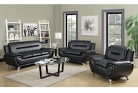 Red leather padded sofa & Love seat 2pc Set Perth Amboy, 08861