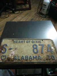 1970s state trooper tag Gadsden, 35904