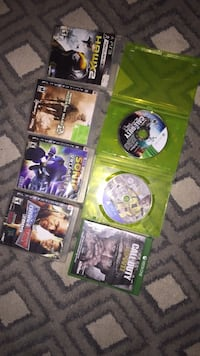 assorted Xbox 360 game cases Montreal