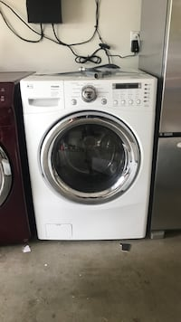 White lg front-load washer with base West Haven, 97225