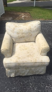 white and brown floral sofa chair Washington, 20024