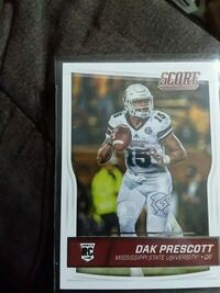 DAK PRESCOTT ROOKIE DALLAS COWBOYS NFL CARD Sturbridge, 01566