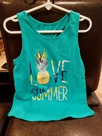 Girls summer top size 7/8 White Plains, 10606
