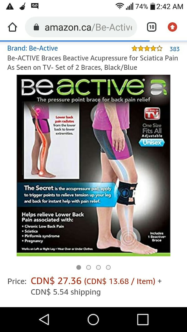 NEW: BEACTIVE pressure point leg wrap for back pain relief   As seen o 0334dd04-c003-444b-8786-9b9b191449d7
