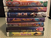 classic disney vhs tapes for sale as a set or individually New York, 10034