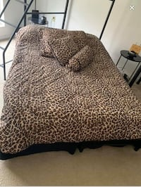 Cheetah twin comforter includes sham , square pillow and roll pillow