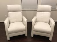 White Leather Recliner Chairs Aldie, 20105