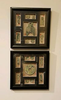 Framed displays of replica Chinese artifacts Washington, 20011