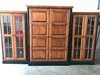 Cherry Wood Entertainment Center null