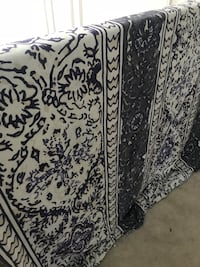 black and white floral area rug Ashburn, 20147