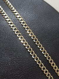 Brand New 10k Yellow Gold Curb Chain (6.1mm) Burnaby