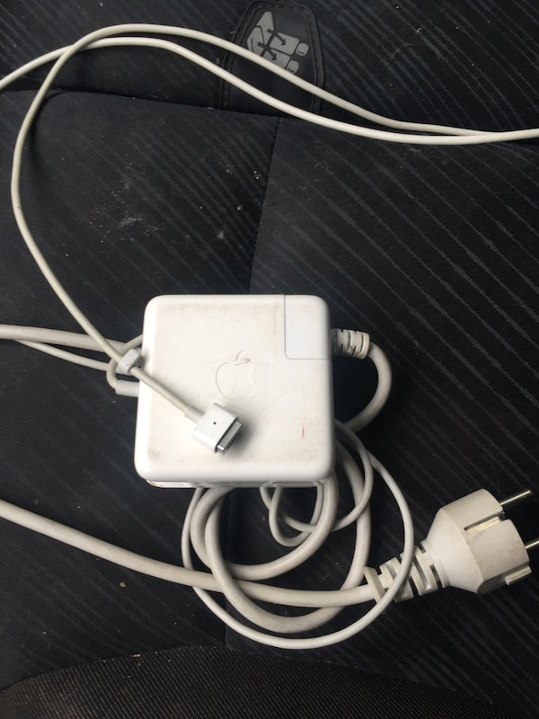 Hvit macbook lader