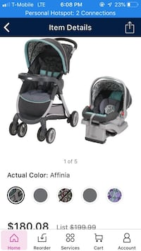 Graco fast action click connect stroller with carseat Falls Church, 22043