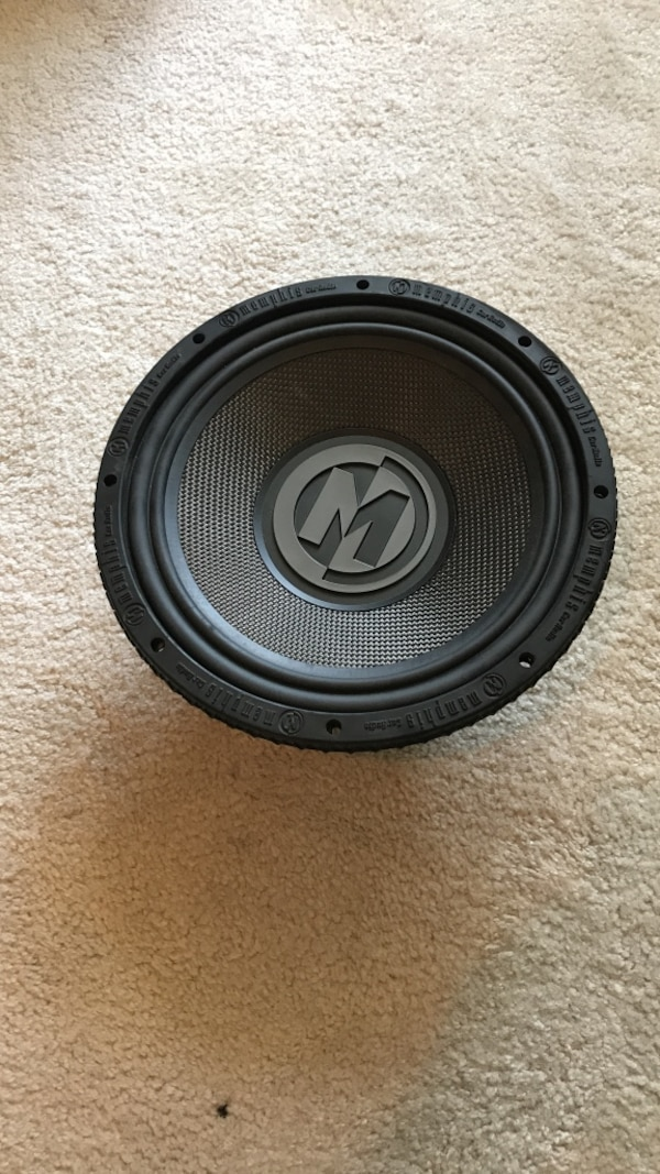 Used Two Memphis M Class Model 15 M5124 12 Subwoofer Speakers For