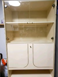 white wooden cabinet with shelf Queens, 11373