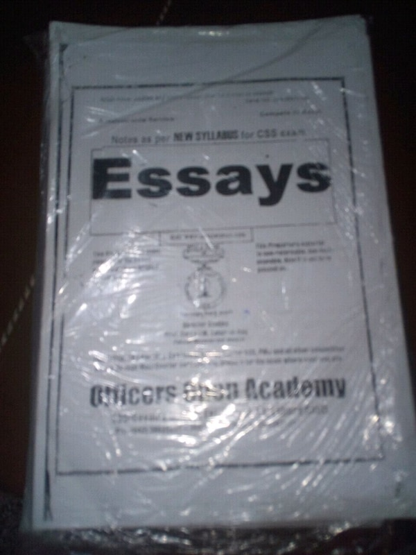 CSS complete notes Officers Academy for sale