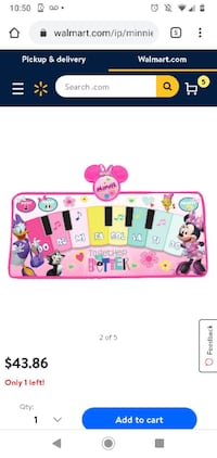 Minnie mouse floor piano mat