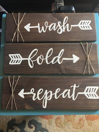 Hand painted signs made from refurbished wood.  Greenville, 29605