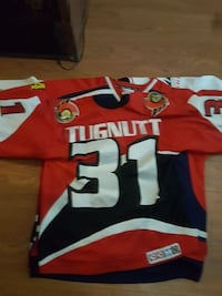 red, white, and black Tugnutt 31 jersey Surrey, V3T 1Z3