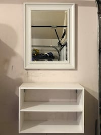 Used Mirror Vanity Set With Shelves For Sale In Horizon