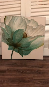 green and white flower painting Alexandria, 22304
