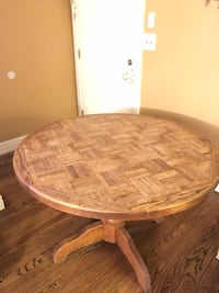 "Round Wooden Table 45""x29.5"" Rahway, 07065"