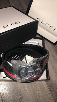 black Gucci leather belt with box Glendale, 91204
