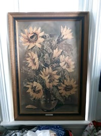 Sunflowers painting L.Ritter Wilmington, 19802