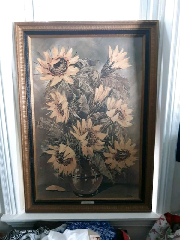 Sunflowers painting L.Ritter c7a0afb9-05d3-410e-a68b-23dfd15a44d4