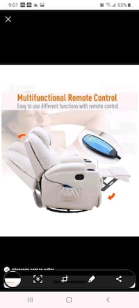 White leather massage chair