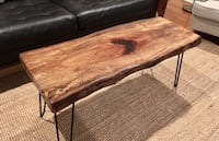 brown wooden coffee table with drawer Tupelo