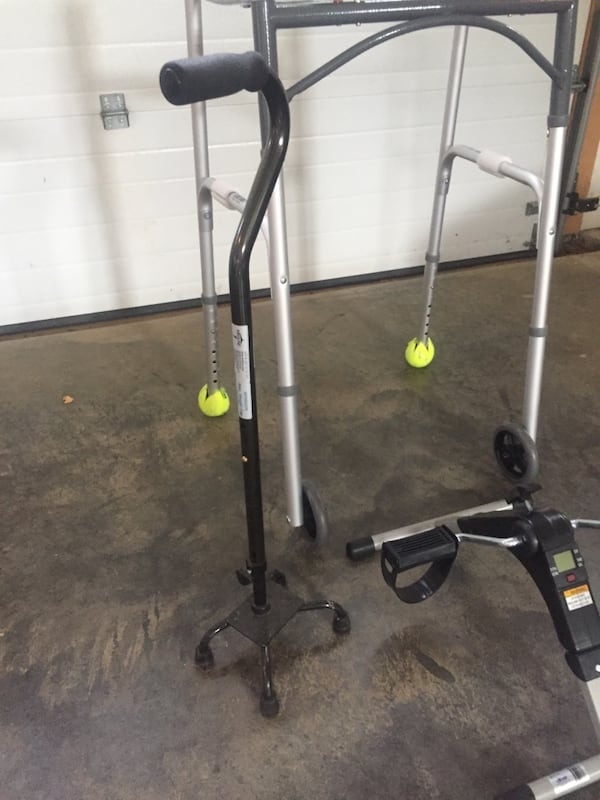 Walker, 4pronged cane & bike - great equipment for recovery & senior citizens  75a46cbd-33f2-4861-9d79-8043bd7416e6