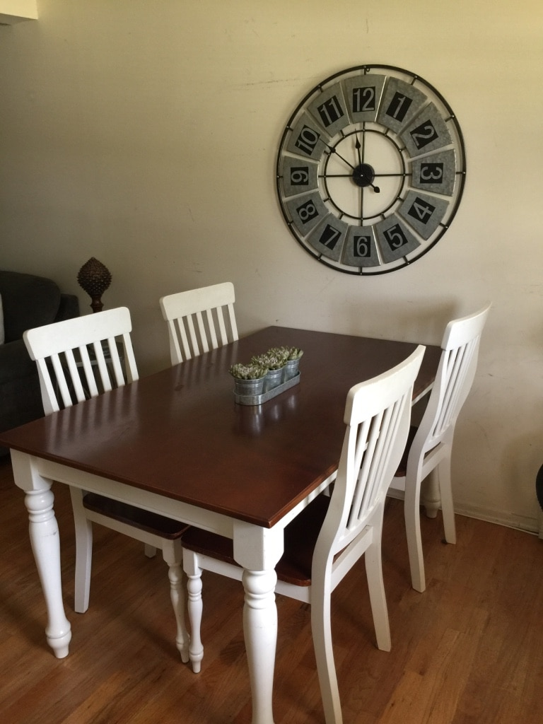 farmhouse dinning room set included bench 4 chairs table solid rh es letgo com