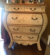 MOVING SALE!!! Beautiful French Country hand painted distressed dresser with pull down desk Oyster Bay